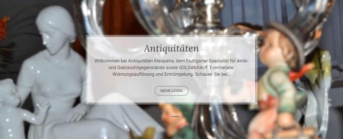 Goldankauf Neuwirtshaus (Stuttgart) 🥇 Antiquitäten Kleopatra ✔ Barankauf, Tafelgeschäft